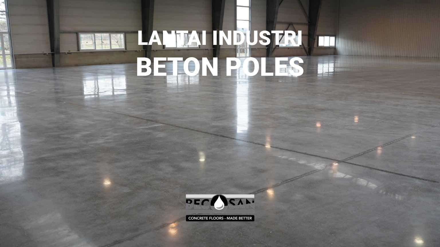 Beton poles lantai industri