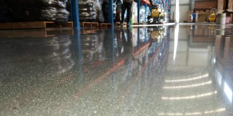 Poleret betonstruktur