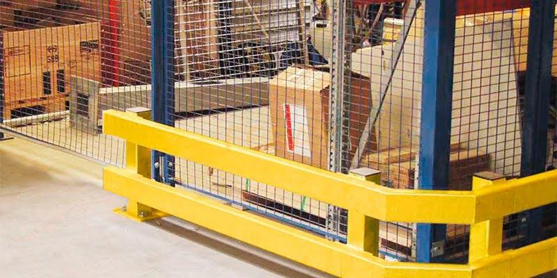 Industrial guardrail barrier