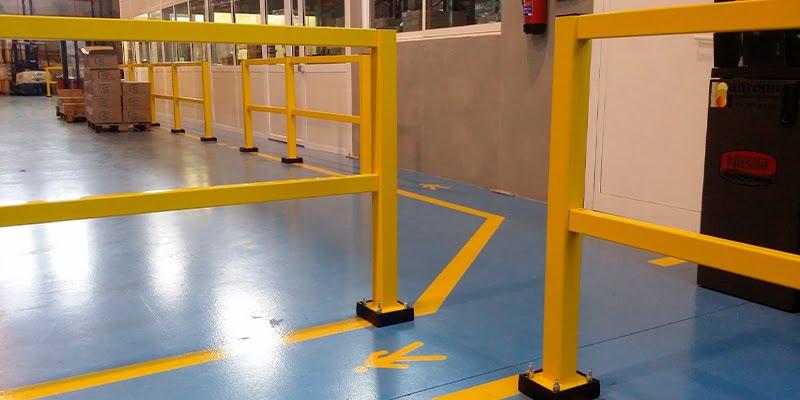 Industrial pedestrian barriers