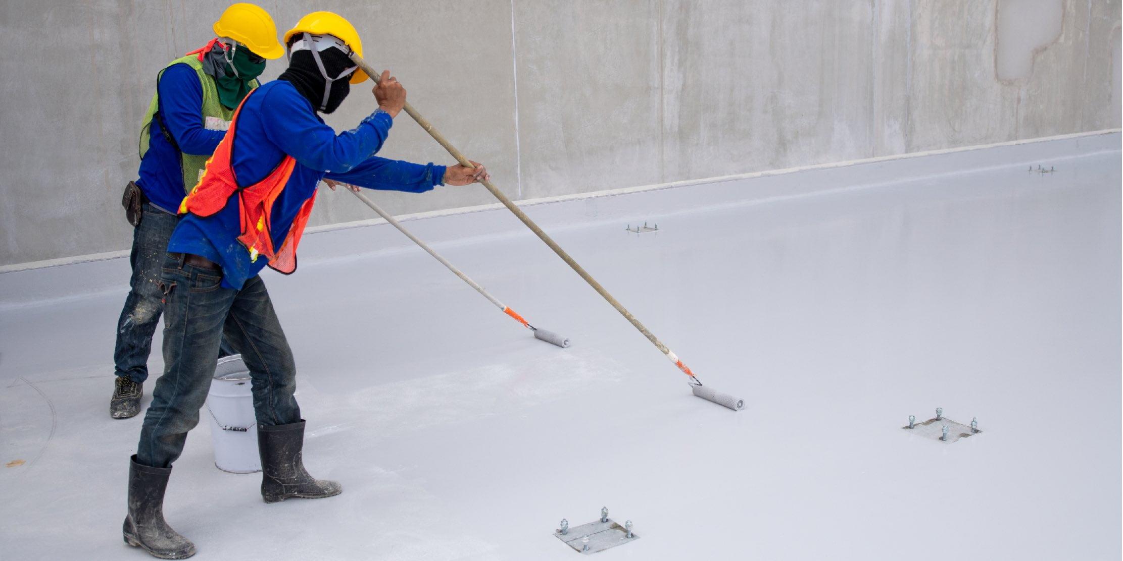 Bouwvakker epoxy schilderij vloer water bewijs bescherming