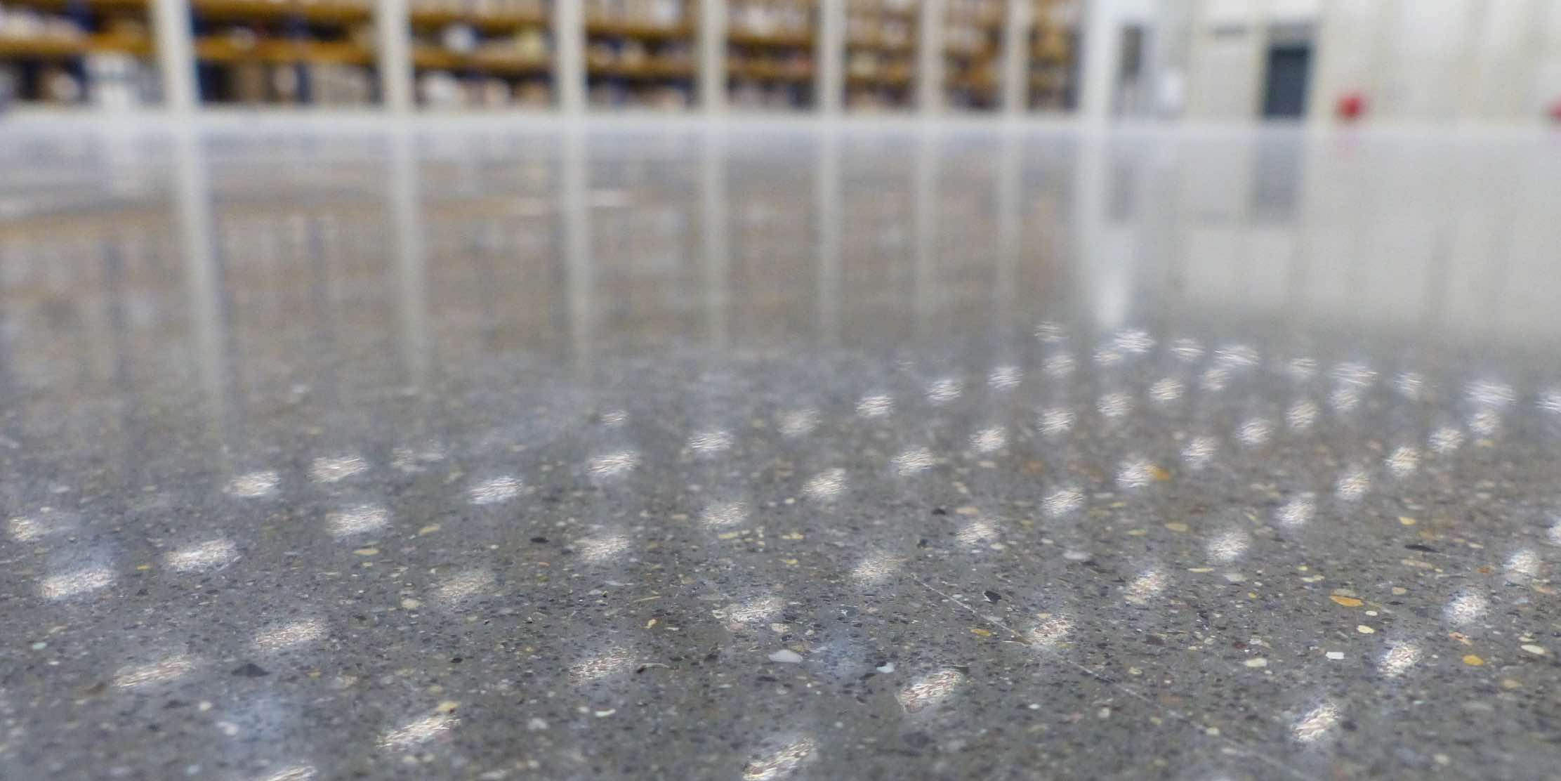 Concrete floor renovated and polished