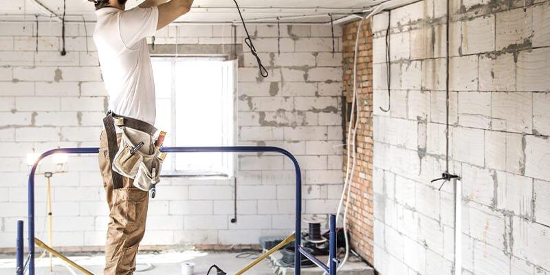 Lighting renovation of industrial warehouse
