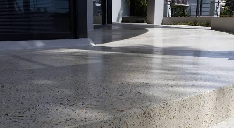 Honed Concrete Exterior
