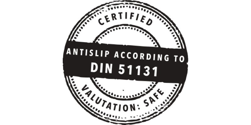 Certificación DIN 51131 Antideslizante BECOSAN