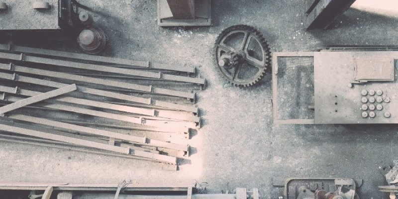 Polvo producido en almacenes industriales e industria