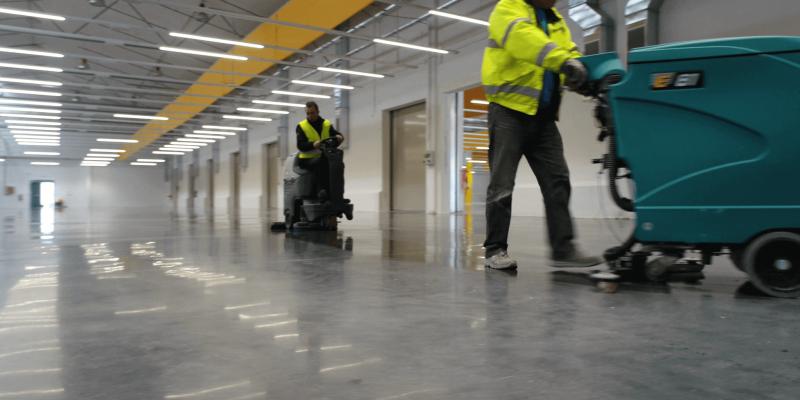 concrete floor easy-to-clean